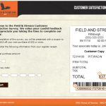 Fieldandstreamshop Survey At www.tellfieldandstream.smg.com